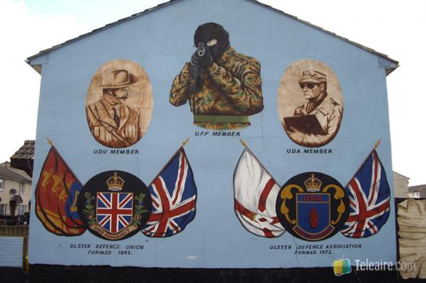 Pared lateral de una casa del barrio protestante de Shankill