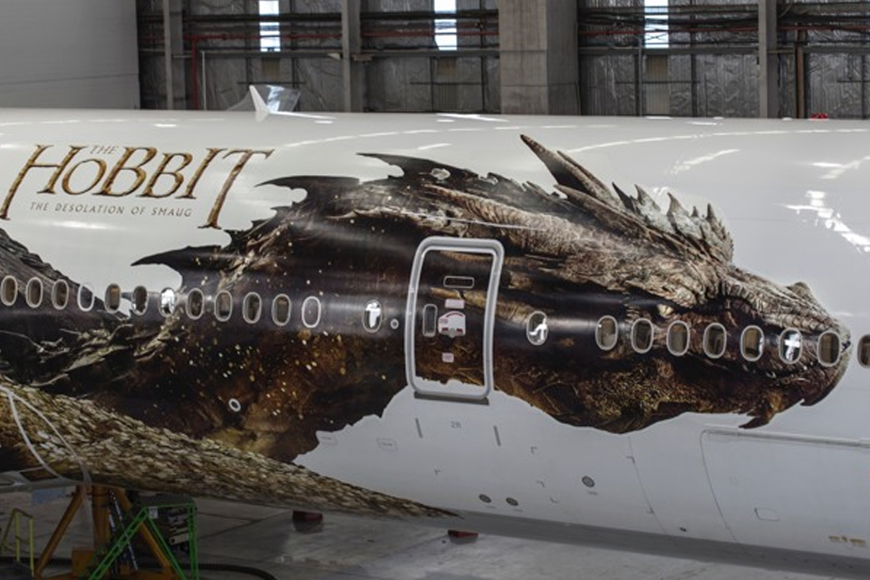 El Hobbit vuela bien alto con Air New Zealand