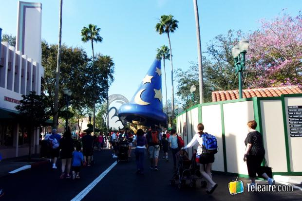 Hollywood Studio nos recibe con el famoso sombrero de Mickey