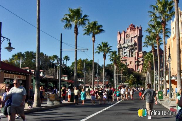 Algunos incluso se animan a entrar a la Tower of Terror