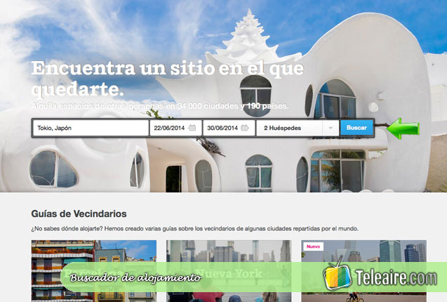screencap de Airbnb