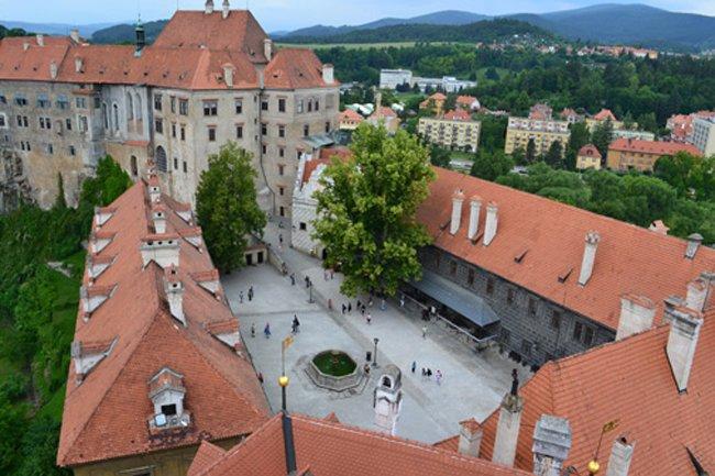 El Castillo Celky Krumlov y sus alrededores