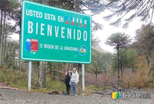 cartel de frontera con Chile
