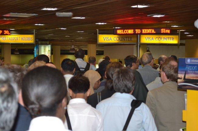 Visado de entrada en el aeropuerto de Kenia