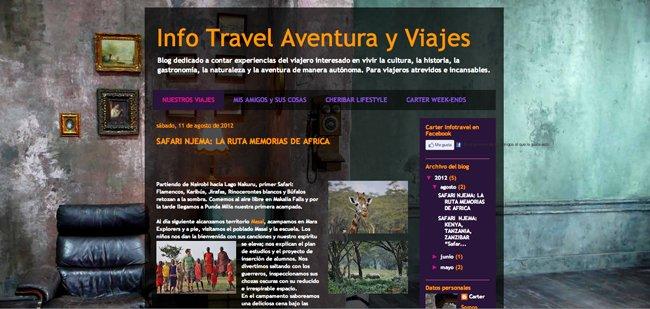 Captura de pantalla blog Infotravel Aventura y Viajes