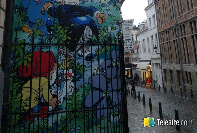 Arte urbano en las calles de Bruselas