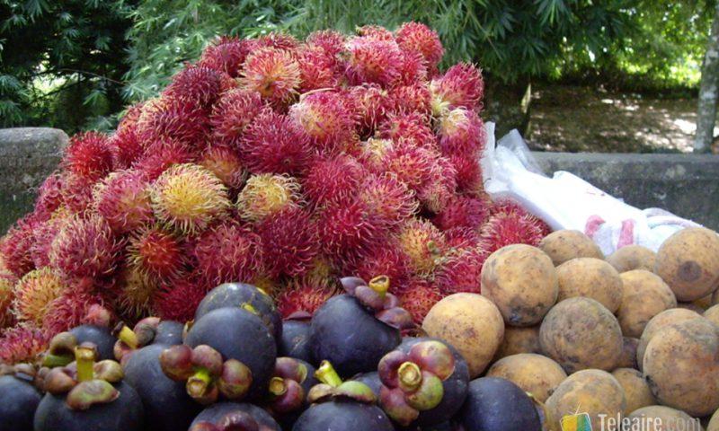Lichi, que aunque sea típico de China también se come en Honduras