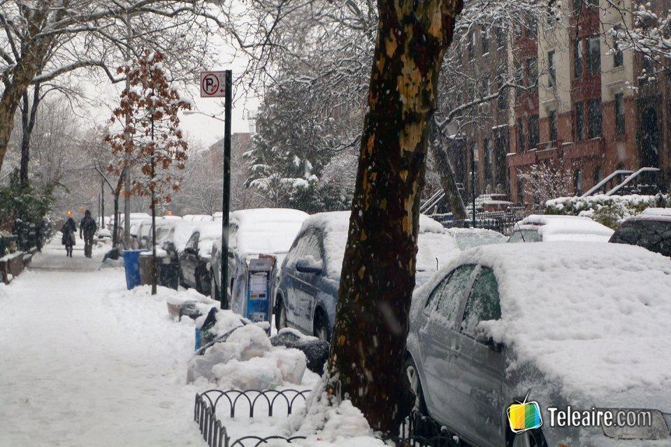 Brooklyn y sus calles bajo la nieve