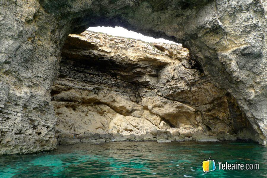 Ejemplo de cómo la roca calcárea evoluciona con la erosión