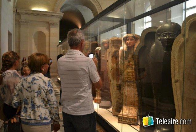 El sector de arte egipcio en el Louvre