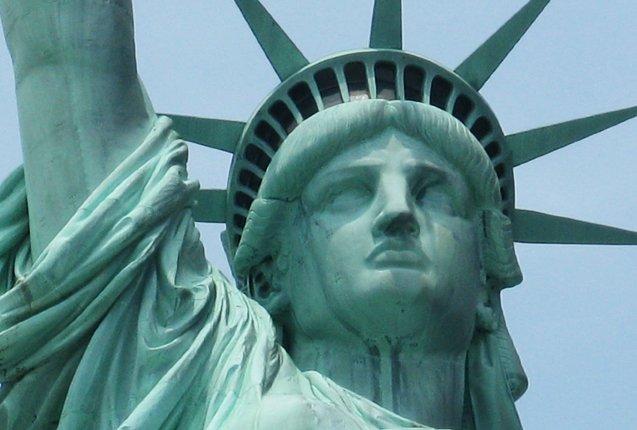El rotro de la Estatua de la Libertad