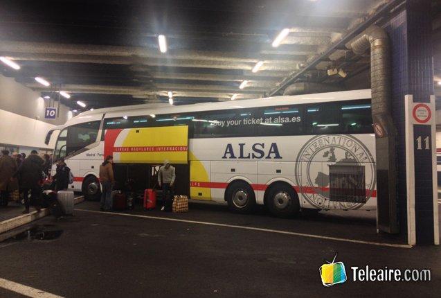 Autobus Alsa en Paris Gallieni