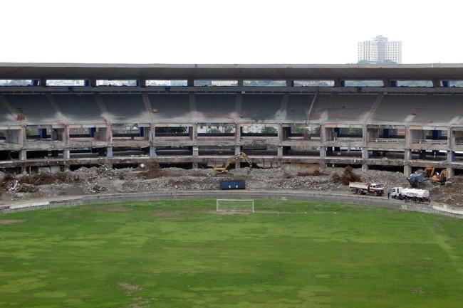 Estadio Maracana en plena renovación