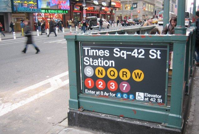 Metro de Nueva York en Times Sq.