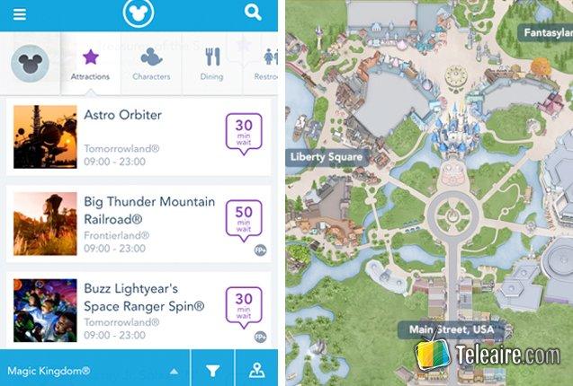 screencap de la aplicacion My Disney Experience