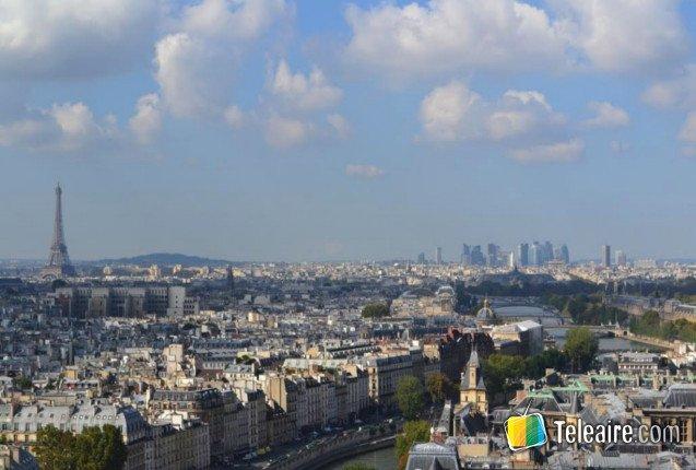 Imagen panoramica de la ciudad de Paris