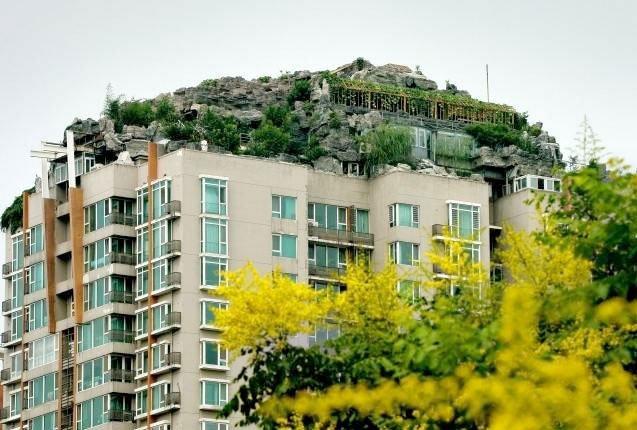 Mansion en lo alto de un edificio