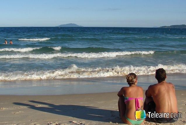 Playa de Bombinhas en Brasil