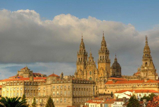 Santiago de Compostela en Galicia, España