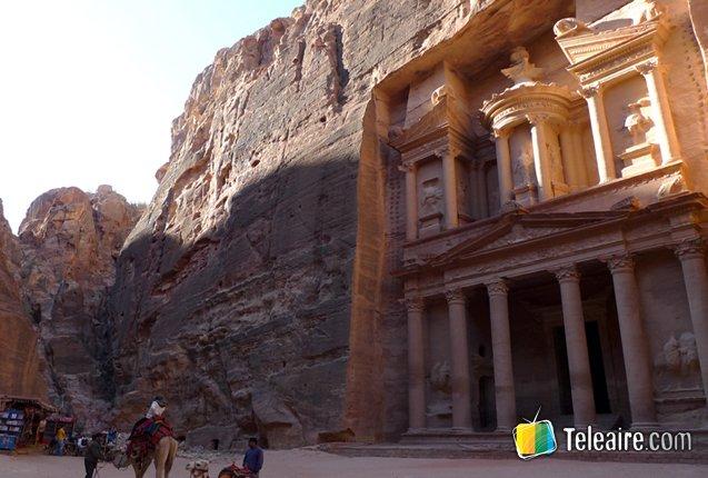 Fachada del Teroso de Petra