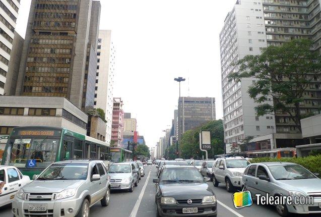 Trafico en el centro de Sao Paulo