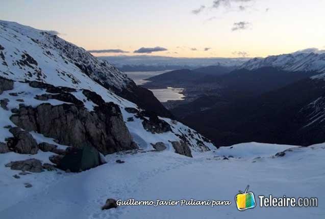 montañas nevadas en ushuaia