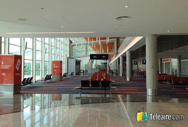 Interior del Aeropuerto de Ezeiza en Argentina
