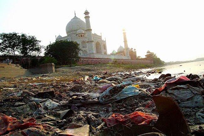 Otra perspectiva del Taj Mahal
