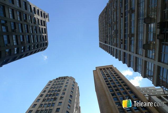 Rascielos en el centro urbano de Sao Paulo