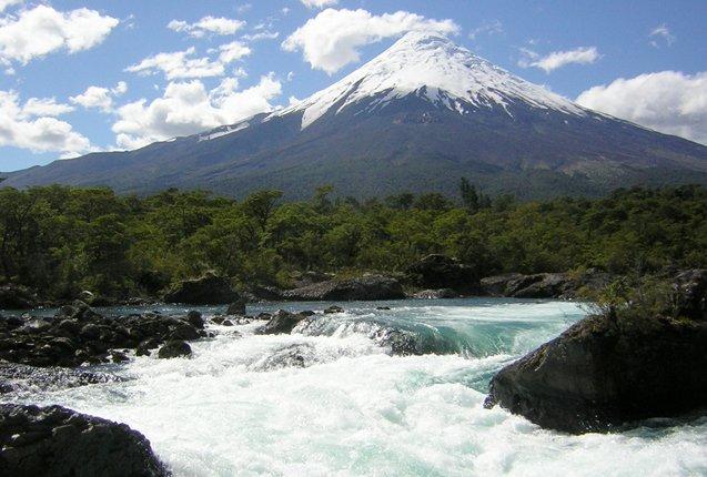 viste desde el lado de Chile de las Cordillera de los Andes