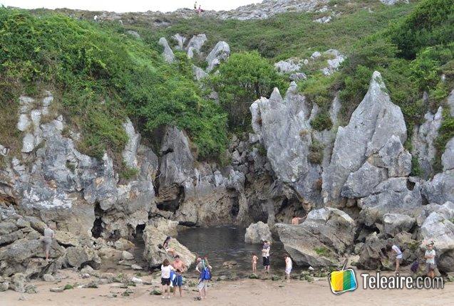 La playa más pequeña del mundo en Asturias