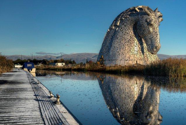 Esculturas de Kelpies en Escocia