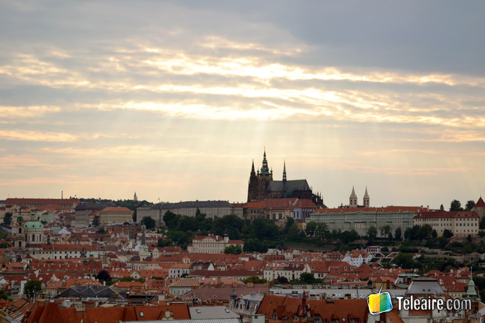 Atardecer panorámico desde la torre del ayuntamiento viejo
