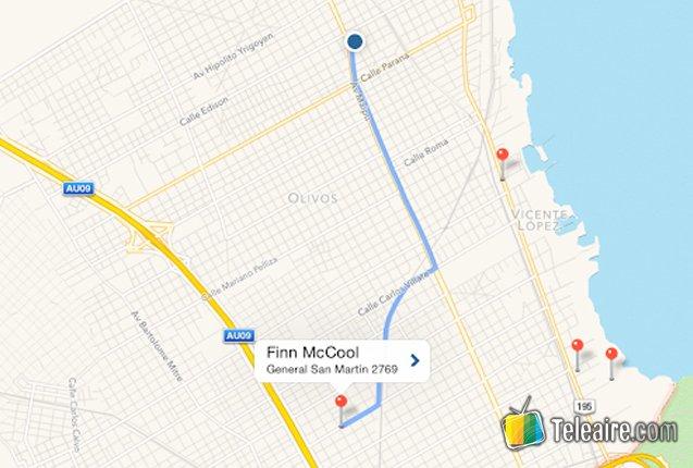 Mapa de ruta en Around Me