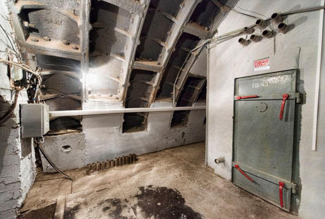 imagen del interior del bunker sovietico