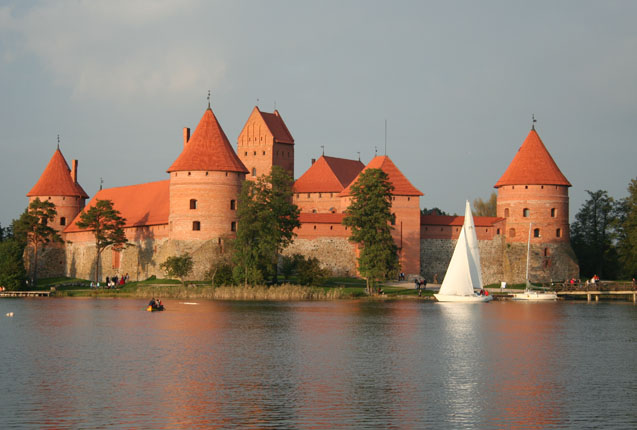 El castillo de las Gendinimas en Lituania