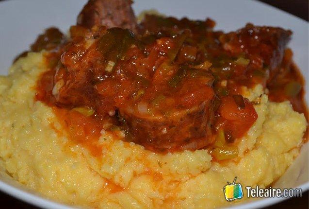 plato de polenta argentina