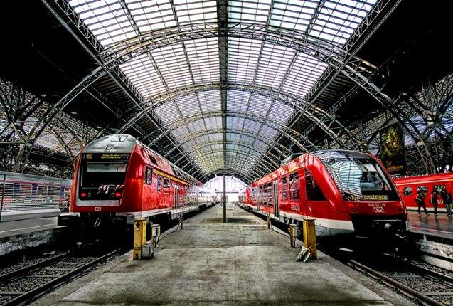 estación de tren en Alemania