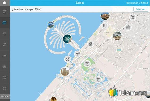 aplicacion para planificar viajes en Medio Oriente