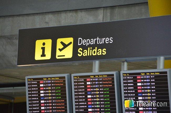horarios de salida en aeropuerto