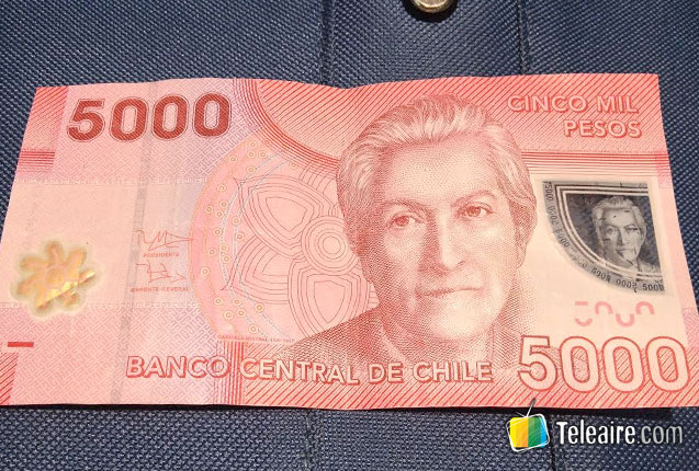 billetes chilenos de 5.000