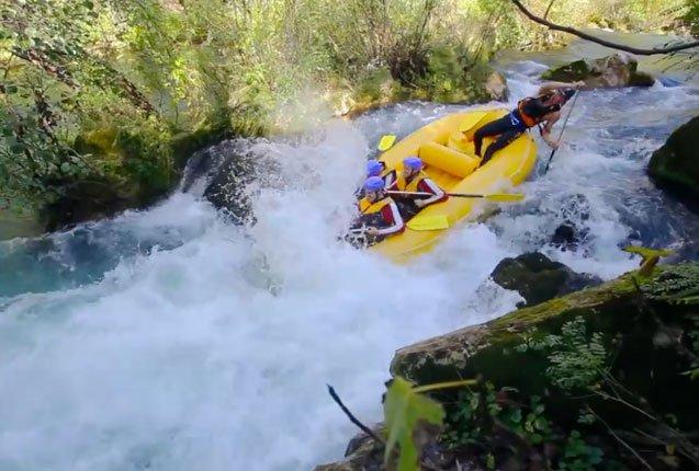 rafting en los rios del mar adriatico