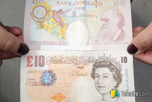 Charles Darwin en las 10 libras esterlinas