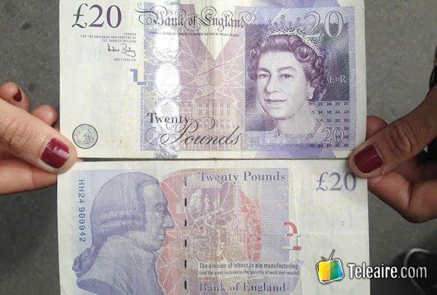 billete de 20 libras esterlinas