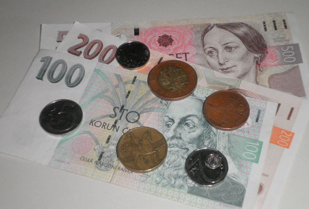detalle de billetes de Republica Checa
