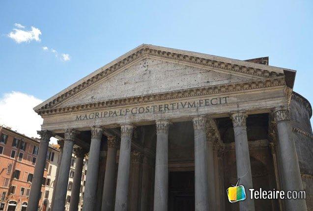 fachada del panteon romano