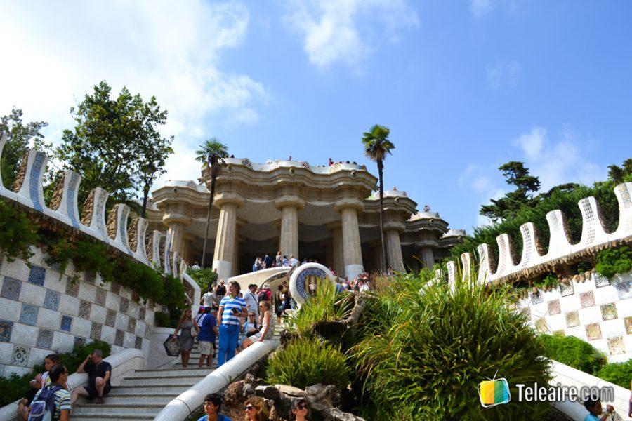 Cada rincón de Parque Güell es un buen sitio para descansar y disfrutar