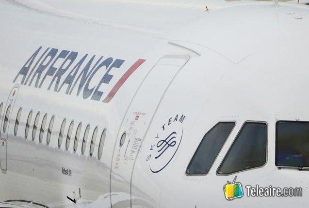 exterior de un avion air france