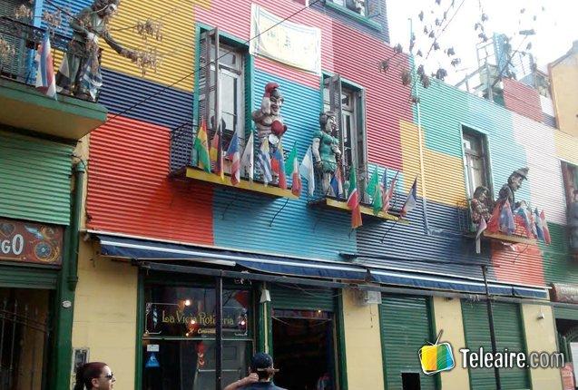 fachadas coloridas en La Boca