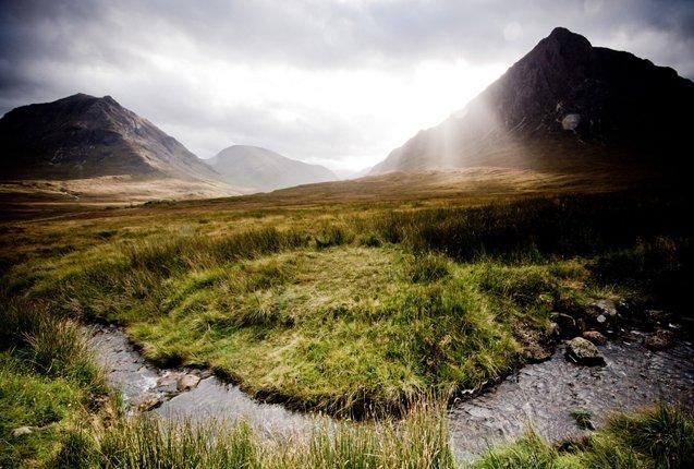 Valle Glen Coe en Escocia